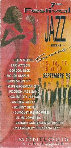Festival Jazz en Touraine programme