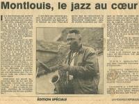 La Nouvelle Republique article on Festival Jazz en Touraine