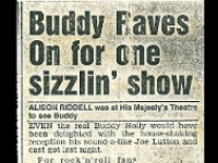 Newspaper article on Buddy the Musical